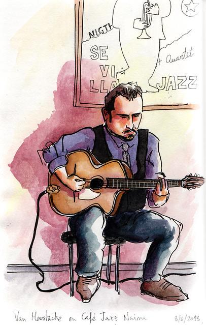 Van Moustache en Café Jazz Naima