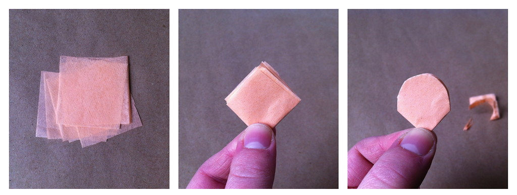 tissue cut