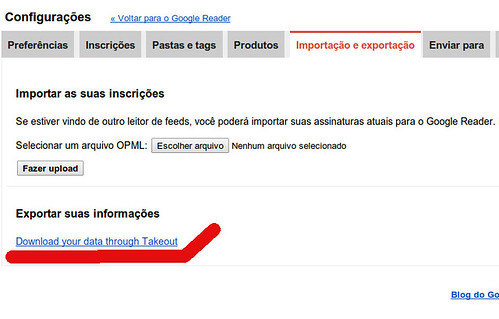 Exportar links Google Reader
