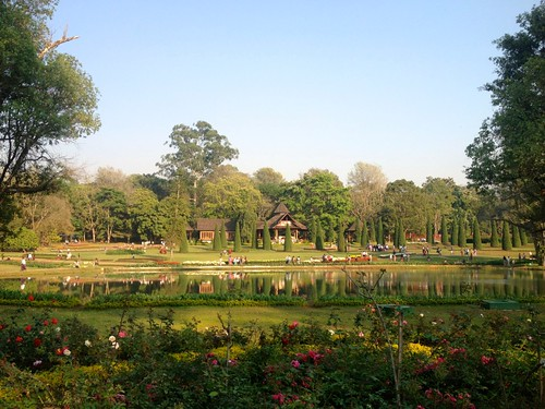 a broad view of the National Kandawgyi Gardens of Pyin Oo Lwin