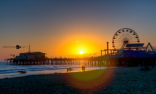 Santa Monica California Pier at sunset