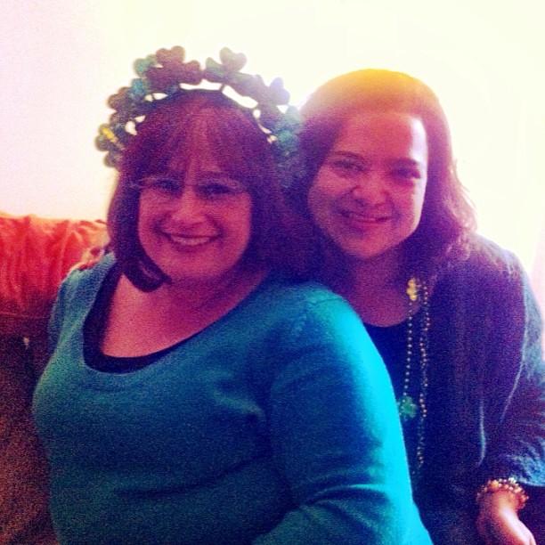 @parentopiadevra & me, haloed in my very sunny living room.