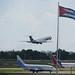 IL62M de cubana de aviación, saliendo de la Habana, Cuba, para Venezuela.