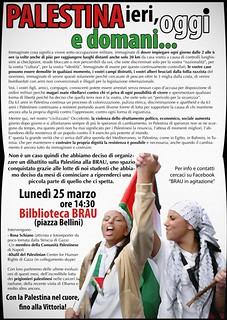 Biblioteca BRAU-Palestina: ieri, oggi, domani