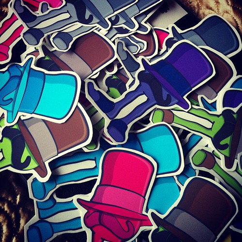 Hand cut stickers for # toyconuk by [rich]