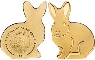 Palau Easter Bunny coin