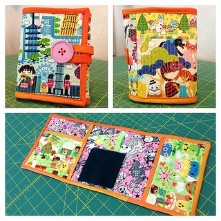 Sewing kit made from Japanese fabrics from Bunny's Designs.