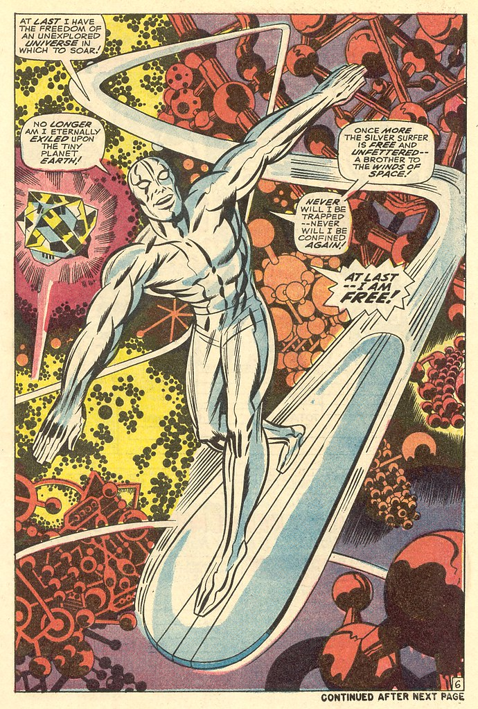 Fantastic Four 76 Silver Surfer splash 1968 Kirby