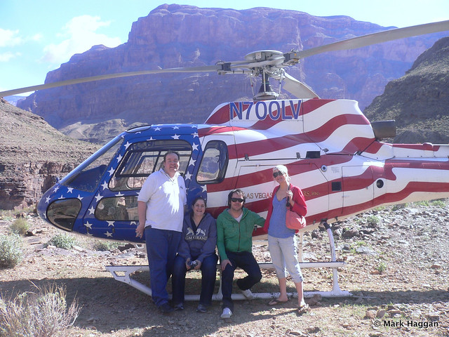 By our helicopter in the Grand Canyon