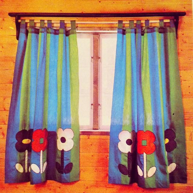 rideau chambre d'enfant vintage