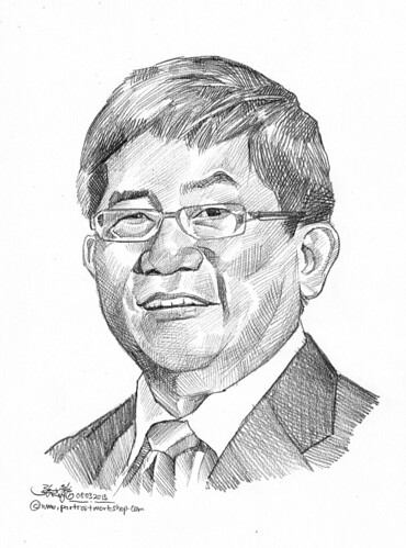 Pencil portrait for Chinese Swimming Club Victor Chia - 16
