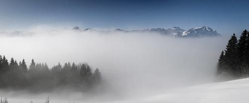 blue panorama mist mountain mountains fog canon eos schweiz switzerland nebel view stitch pano blau stitched appenzell alpstein moning 50d gais markusmoning appenzellausserrhoden sommersberg