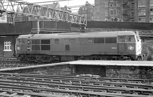 BR Class 31 5634, Liverpool Street.