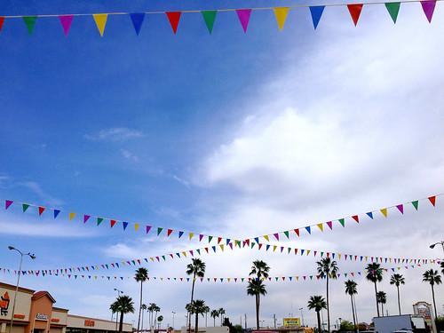 arizona sky urban colors phoenix composition palms crisscross iphone pennants iphone4s