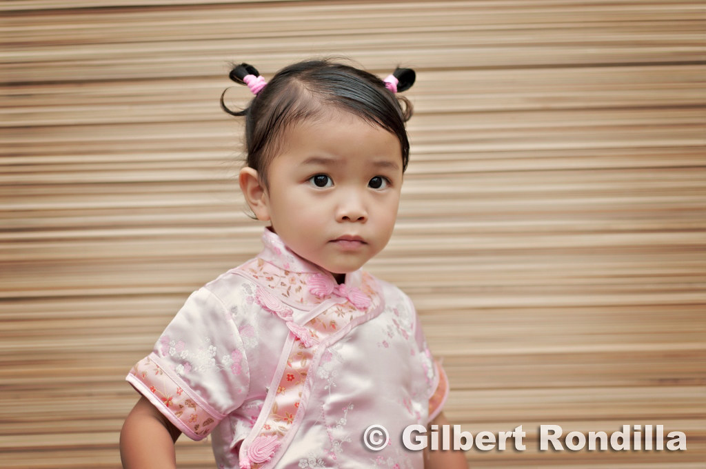 Girl wearing cheongsam