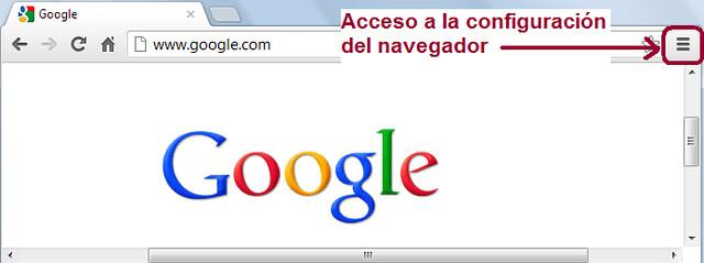 Acceso configuración Chrome