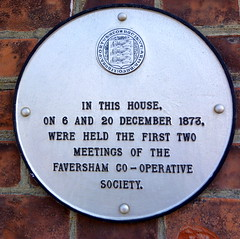 Photo of Faversham Co-Operative Society white plaque