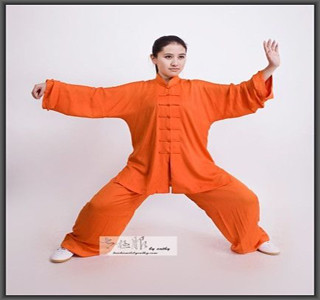 Long Sleeve Cotton Silk Tai Chi SuitMeditation Clothes