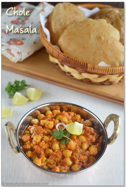 Chana Masala Recipe - Side dish for Poori