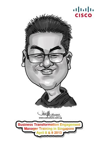 digital caricature for Cisco - 2