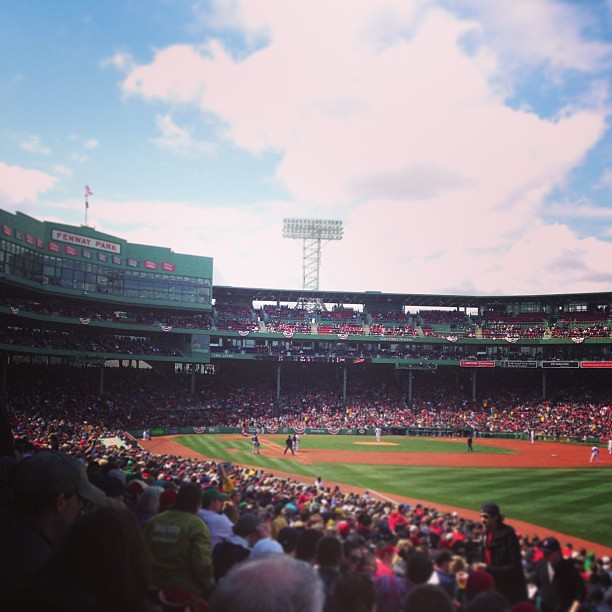 Oh Fenway. It's good to be back. #gosox