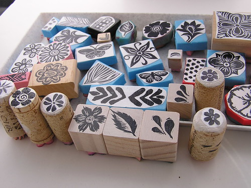Hand Carved Stamps by Autumn Hathaway