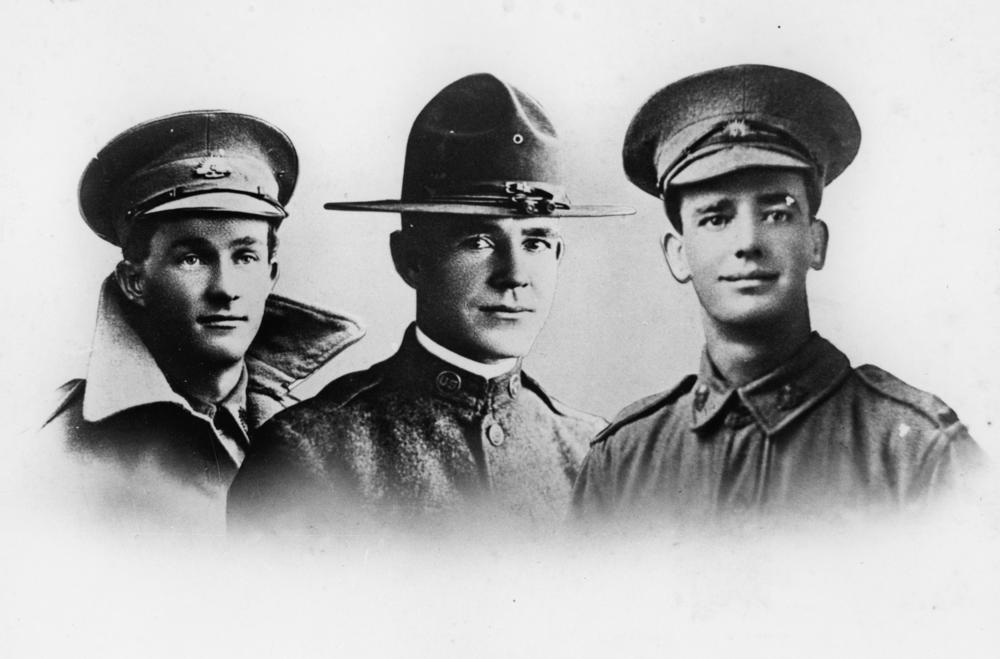 Kennedy brothers in their military uniforms, ca. 1916