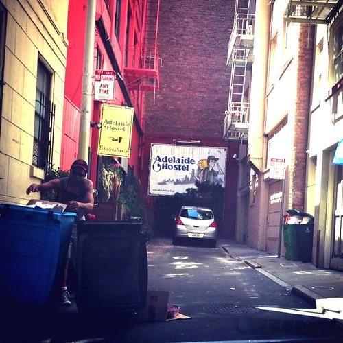 Adelaide Hostel entrance