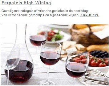 Restaurant Eetpaleis Alkmaar High Wine