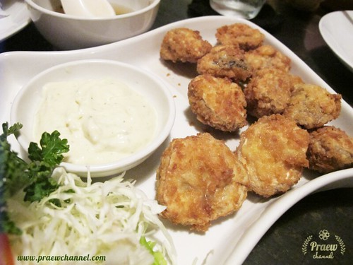 Deep-Fried Straw Mushroom with Garlic Mayo at Cafe de Nimman , Chiangmai