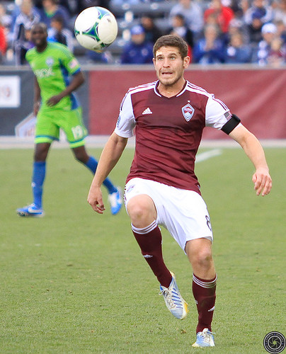 Dillon Powers, Colorado Rapids v. Seattle Sounders FC Apr. 20, 2013 by Corbin Elliott Photography