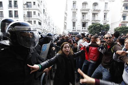 Tunisian demonstrations in the aftermath of the assassination of opposition figure Chokri Belaid in early February 2013. The government collapsed and elections will be held soon. by Pan-African News Wire File Photos
