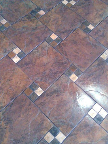 Commercial porcelain tile floor