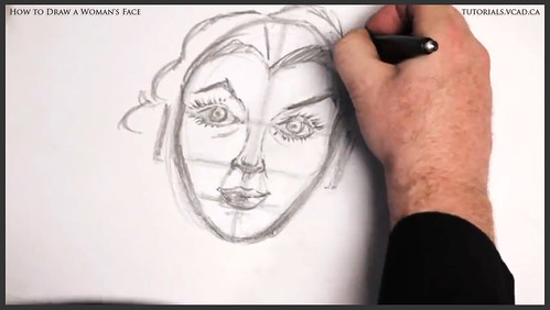 learn how to draw a womans face 018