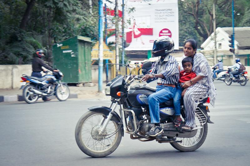 Family on motorbike India