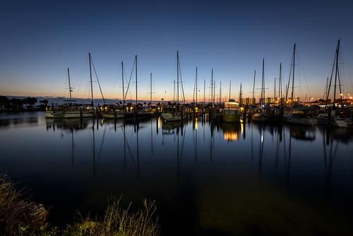 usa reflection water night sunrise river landscape dawn boat florida clear titusville watercraft centralflorida merrittislandnationalwildliferefuge minwr