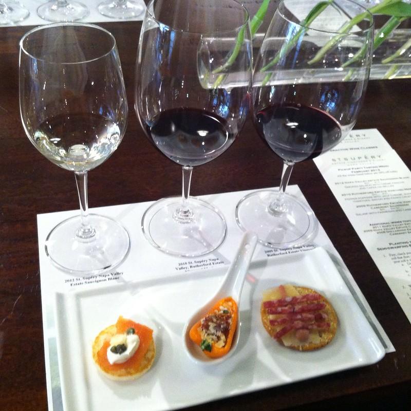 Salmon Bellini, Stuffed Pepper & Salami W/ Cassis Mustard On Cracker @ St. Supery Winery