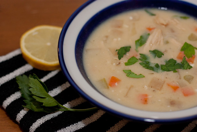 Avgolemono (Greek Lemon Egg Soup)