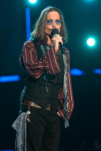 Johnny Depp. Premios Grammy, versión 55, febrero 10 de 2013, Staples Center, Los Angeles, California, Estados Unidos. Foto cortesía Canal TNT.