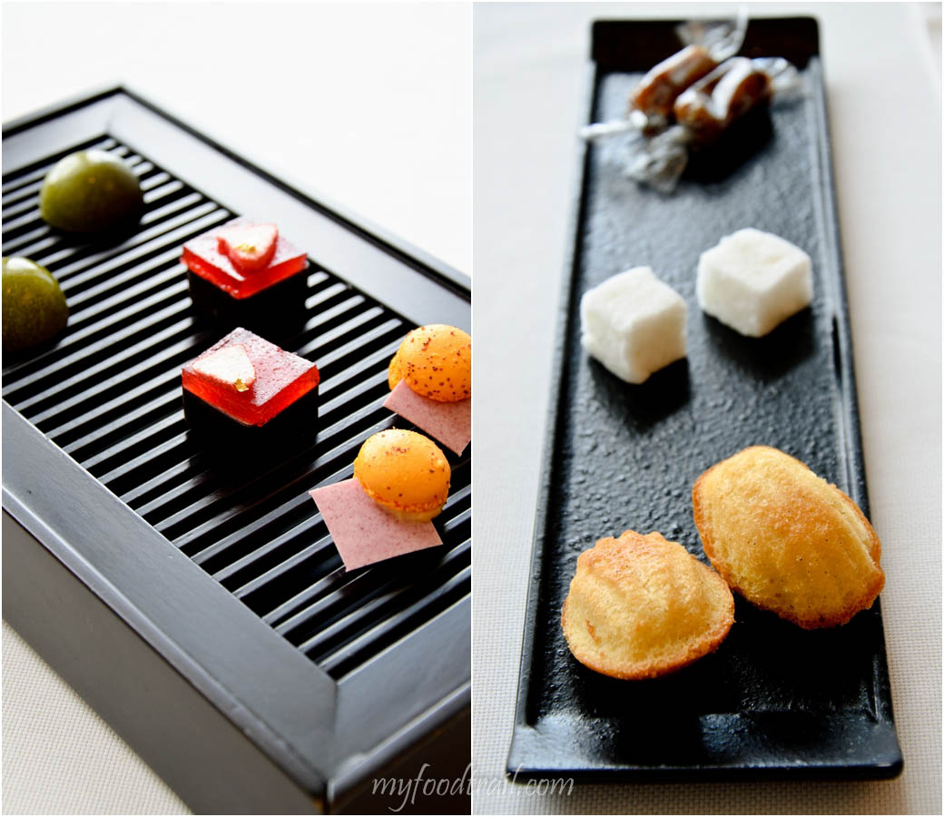 Caprice, Hong Kong - Complimentary petit fours