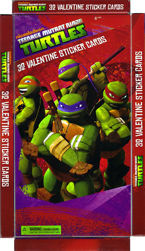 "AMERICAN GREETINGS :: ""NICKELODEON"" TEENAGE MUTANT NINJA TURTLES - VALENTINE STICKER CARDS i (( 2012 ))"