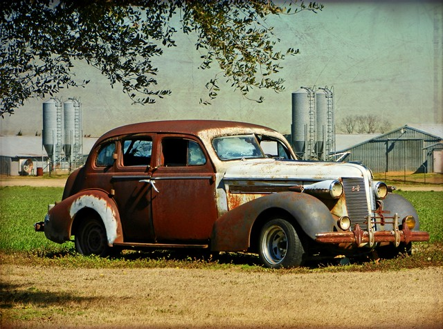 The Old Rusty Sedan:  Parkstown, Wayne County, North Carolina (Featured in Flickr Explore on February 14, 2013)