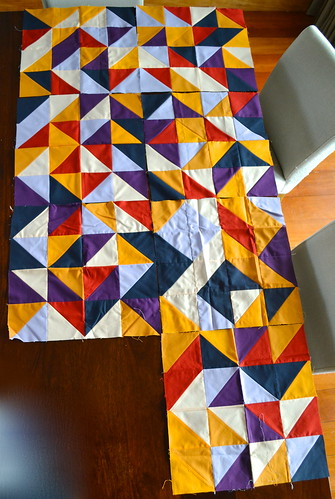 Simply Solids Quilt Progress