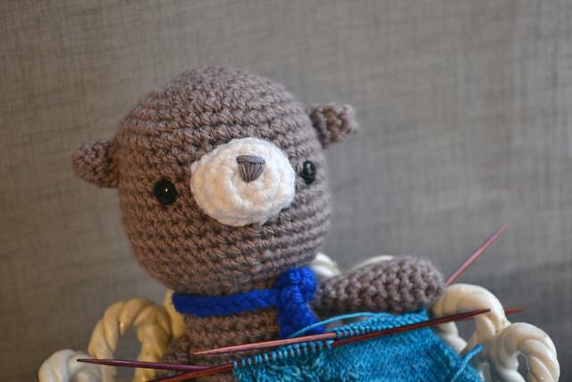 Bruno knitting socks