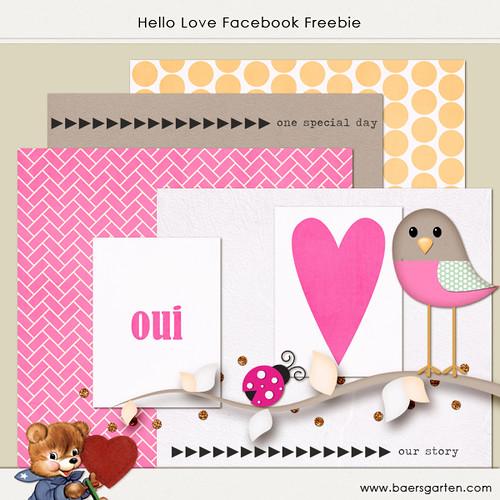 Hello Love Facebook Fan Freebie