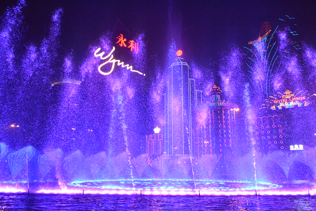Water/lightshow at the Wynn