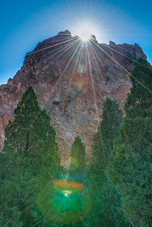 Sunburst at Garden of the Gods in Colorado Springs