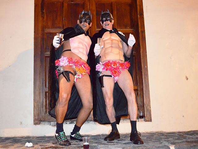 Batman strippers, Carnival, Puerto de la Cruz, Tenerife