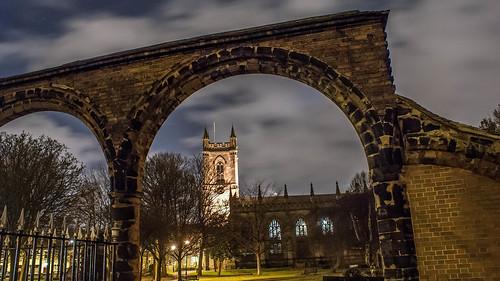 longexposure church night clouds dark photography god religion stokeontrent pottery minster staffordshire stoke