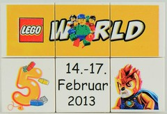 Freebies from the LEGO World 2013 production area